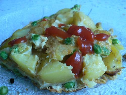 Blitzgescheit Torte - Kartoffel-Ei-Omelett mit Erbsen