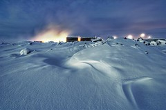 Ice and fire ... (asmundur) Tags: longexposure light snow cold ice fire iceland shadows searchthebest steam spa hdr bluelagoon pf photomatix january2007