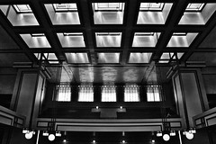 Unity Temple (minwoo) Tags: bw chicago architecture d70 franklloydwright symmetric oakpark unitytemple