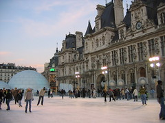 Paris City Hall  (Hotel de Ville) Christmas Skating Rink (Enyad Retrac) Tags: christmas travel vacation paris france hoteldeville cityhall skatingrink parisfrance parisianlife pariscityhall