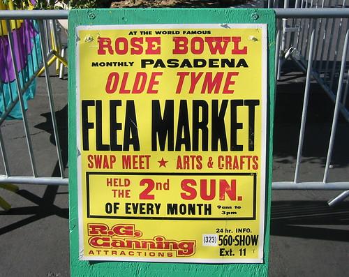 Rose Bowl flea market in Pasadena