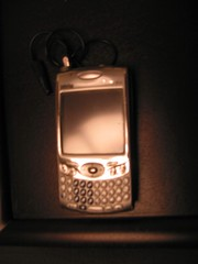 Treo with an alligator clip antenna