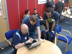 Conor, Stephen and Justin Over Barcamp