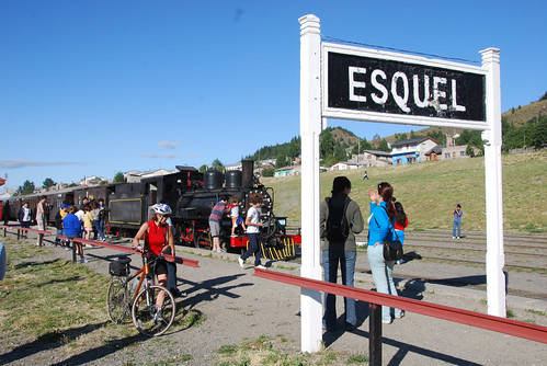 "We timee our departure from Esquel to coincide with that of the old Patagonian Express (""la Trochita"") by Rick Price."
