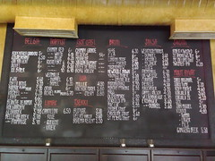 Bottled beer list