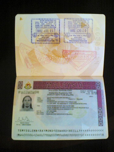 Malaysian immigration stamp