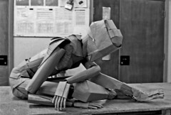 Cardboard Figure (Richard Sweeney) Tags: sculpture art recycled cardboard human anatomy figure material articulated richardsweeney