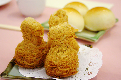 fried taro bird things