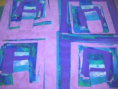 Queen bed quilt blocks - 4 sets