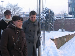 on the way to stliche (Julalo) Tags: morning winter ladies girls cold art germany design women freezing artschool pforzheim wintermorning vk stliche hspforzheim visulellekommunikation interneprsentation wintersemester20062007