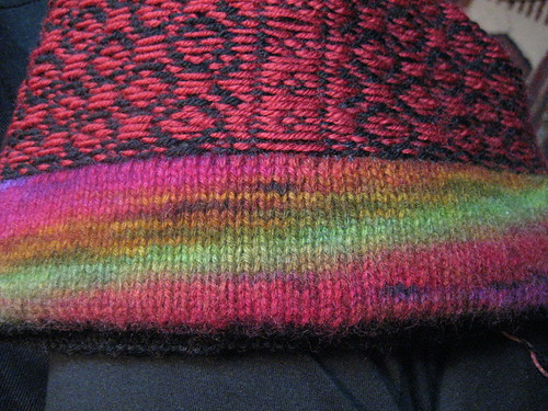 Norwegian hat - sewing in the lining
