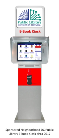 Concept of a Sponsored DC Public Library E-Book Kiosk