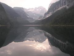 Windstille am Gosausee (rudi_valtiner) Tags: lake mountains alps sterreich water reflections austria mirror see wasser spiegel glacier berge alpen gletscher dachstein obersterreich upperaustria naturesfinest gosaukamm dachsteingebirge abigfave vorderergosausee