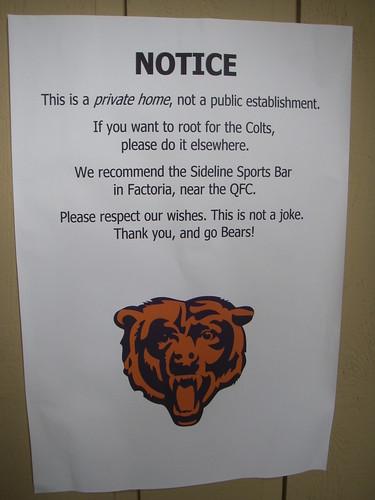 Bears warning