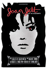joan jett poster (strawberryluna) Tags: red black metal ink silver poster death screenprint heart joan jett valiant lipstick eagles squeegee gigposter thorr strawberryluna