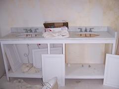 half-done vanity