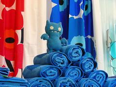 Icebat found matching towels (revlimit) Tags: toy toys albuquerque plush explore uglydoll nobhill uglydolls icebat abode nikons10