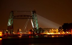 De Hef at night (EricK_1968) Tags: railroad skyline night rotterdam iron nederland bridges noordereiland feijenoord bruggen dehef dezwaan koningshavenbrug koningshaven eramusbrug superaplus aplusphoto spoorweghefbrug oldrailroadbridges joostling erick1968 mygearandme mygearandmepremium mygearandmebronze mygearandmesilver mygearandmegold aboveandbeyondlevel1