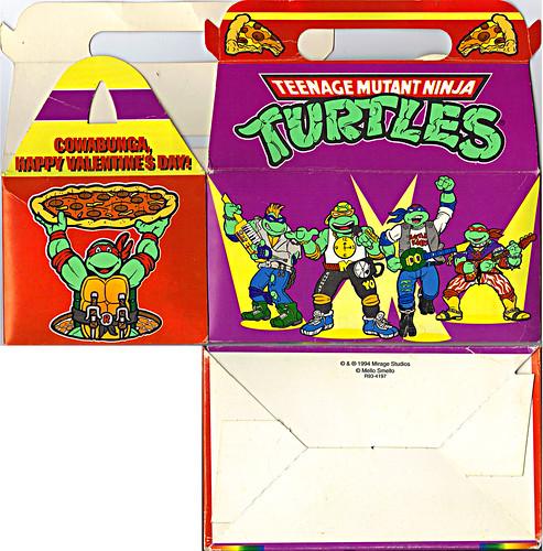 "MELLO SMELLO :: ""TEENAGE MUTANT NINJA TURTLES"" Valentine Kit .. box i (( 1994 ))"