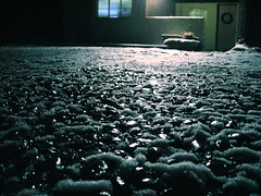 snowstoneshimmer (robotson) Tags: light snow newmexico reflection wet night yard slick rocks glow glare shine stones albuquerque driveway reflect shimmering shimmer coolpixl3