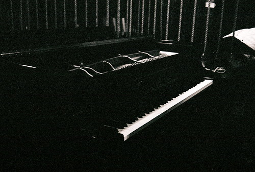 The solo piano backstage