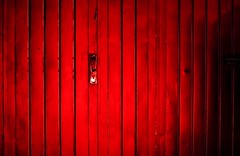 door camera red party closed place nocturnal darkness emotion fear illuminated adventure vision strong recall identify creep recognize discern