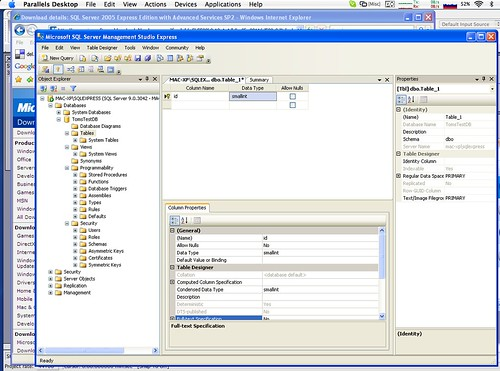 SQL Server 2005 Express Edition on Mac