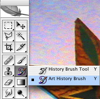 Adobe Photoshop Tutorial - Cell Phone Art - Select Art History Brush
