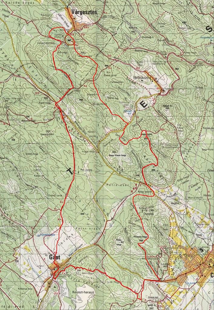 Gánt - Csákvár - Várgesztes térkép