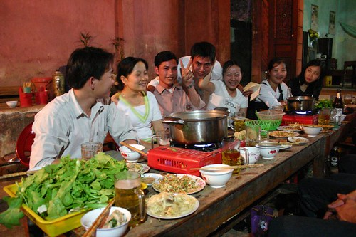 Celebrating the Tet New Year with the locals in Dong Tam, a tiny village close to the Lao border...