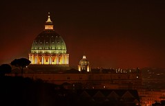 Pope 's on fire (Historicus) Tags: italy pope rome roma 5d hdr nightvision stpetersbasilica bellaitalia canoneos5d canonef70200mmf4lisusm tothemastervalerioimperatormaximus bratanesque