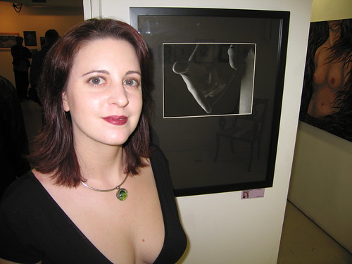 azcra with her juried entry in the moca erotica show
