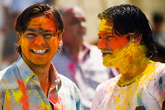 Colors are the smiles of nature (Ashish T) Tags: friends portrait india colors smile festival closeup children asia buddies indian mumbai holi facial juhu auspicious ashisht ashishtibrewal lpfestasiapacific