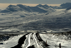 The road to the mountains (joningic) Tags: road blue snow mountains nature iceland bravo eyjafjrur hrgrdalur