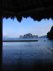 """view of a giant rock (aka """"this is a giant rock."""") (permanently scatterbrained) Tags: travel island southeastasia philippines pi backpacking pinay pinoy visayas palawan thephilippines miniloc philippineislands"""
