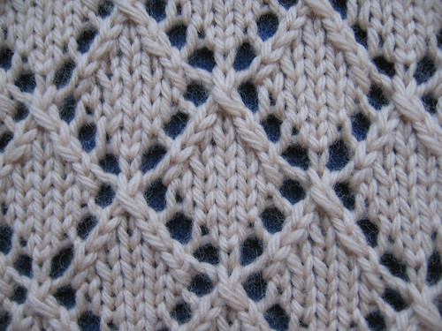 Openwork Lace Knitting Pattern : Openwork Diamonds The Walker Treasury Project
