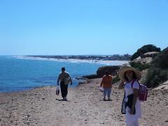 Descente vers la plage via Colline Sidi Ali El Mekki