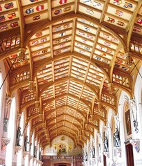 Ceiling of St Georges Hall (Swamibu) Tags: castle heritage saint hall suits windsor british coolest armour georges shields seenonflickr
