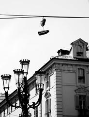 Spectre (To) (Knrad) Tags: blackandwhite italy torino shoes italia piemonte turin piedmont biancoenero scarpe piazzacastello noncelehomesseio corradogiulietti