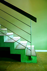 Green ascent (*Katch*) Tags: abstract green stairs qq soe ineedyou 50faves mywinners colorphotoaward flickrbest colourartaward