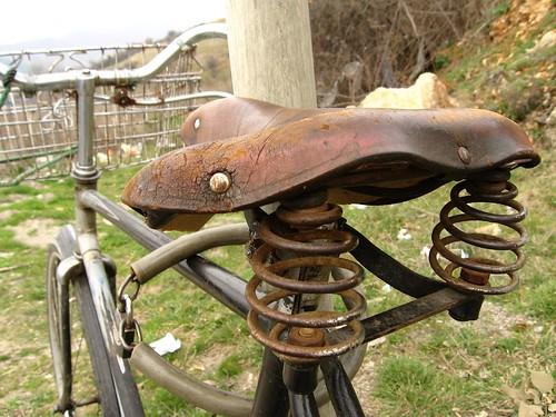 Bike seat (near Ohrid, Macedonia)