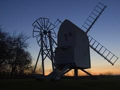 Great Chishill Windmill (scuba_dooba) Tags: uk sunset windmill silhouette evening twilight venus tripod cambridgeshire greatchishill supershot