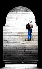 Stair walking, Central Park