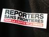 Cartel Reporteros sin Fronteras