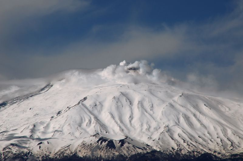 mount etna steaming