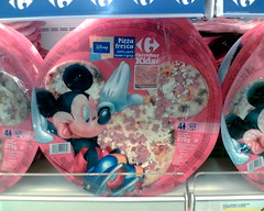 Mickey Mouse shaped pizza