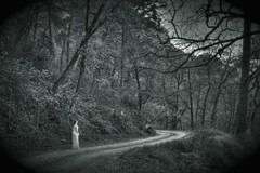 Road to... (CarlosBravo) Tags: road blackandwhite beautiful ilovenature mujer alone camino fear ghost spooky horror terror soledad sola fantasma miedo hdr itesm bosques tecdemonterrey terebriones