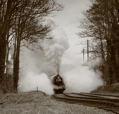 Foxcote Manor (*Firefox) Tags: sepia blackwhite railway steam steamengine peopleschoice bishopslydeard westsomersetrailway top20rrpix foxcotemanor 7822 springsteamgala