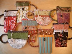 new pouches (PatchworkPottery) Tags: coffee bag tea handmade sewing country craft purse pouch zipper quilted coffeemug patchwork teacup wristlet eyeglasscase