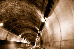 19th Ave Tunnel at 4.21am ((nz)dave) Tags: sanfrancisco california nightphotography usa sepia night america moving movement nikon driving tunnel kqed d200 ontheroad sigma30mmf14exdchsm nikond200 interestingness379 i500 sfchronicle96hrs explore18mar07